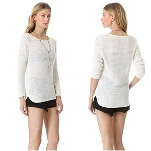 Surface To Air White Long Waffle Knit Sweater
